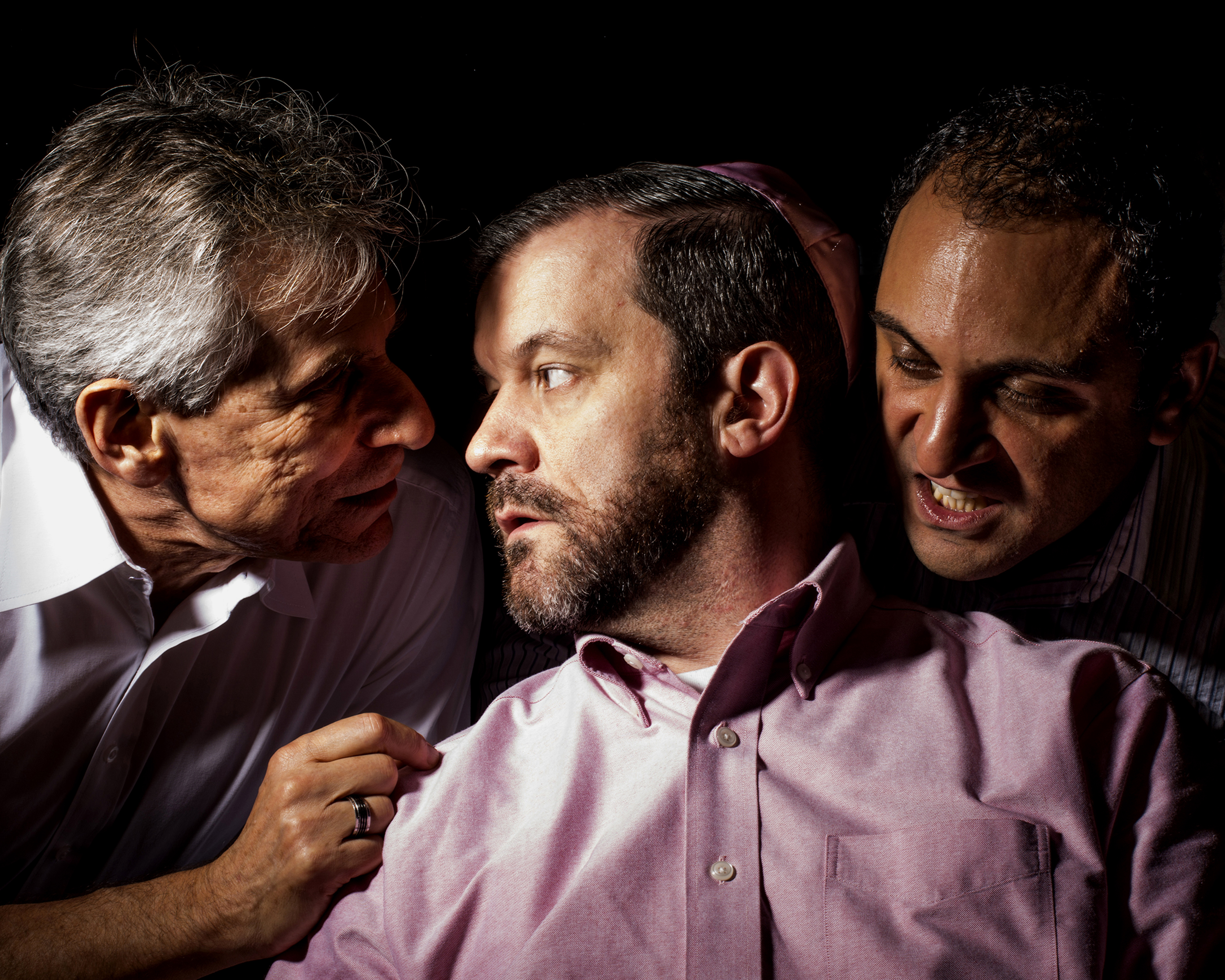 Actors (L to R) are Jerry Wasserman, James Gill and Mehdi Darvish - Photographer Doug Williams