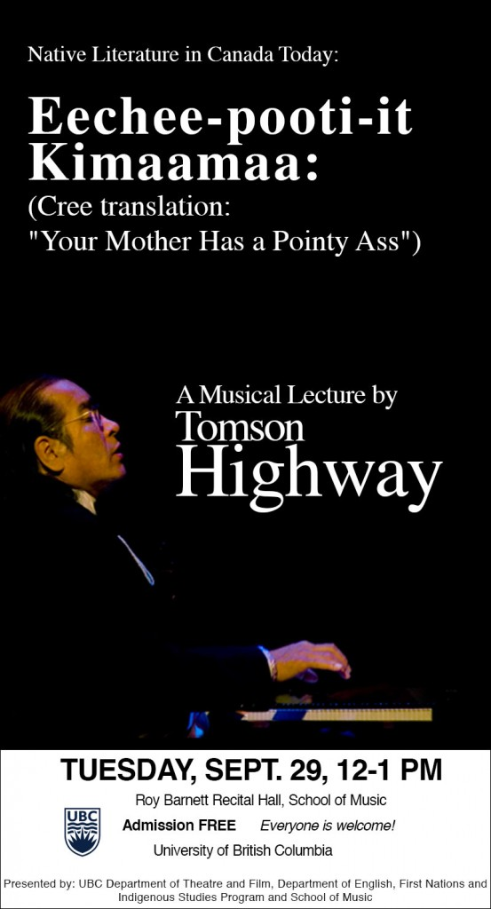 A Musical Lecture by Tomson Highway