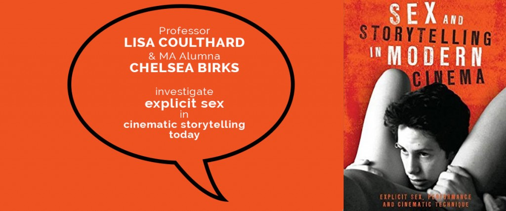 Professor LISA COULTHARD & MA Alumna CHELSEA BIRKS Contribute to the expert investigation into how explicit sex can be an essential element of cinematic storytelling today in the upcoming book SEX AND STORYTELLING IN MODERN CINEMA