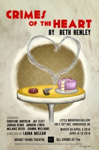 BFA ACTING AND THEATRE PRODUCTION ALUMNI GALORE IN BRIGHT YOUNG THEATRE'S CRIMES OF THE HEART BY BETH HENLEY