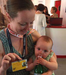Lauren Grant (BFA 2006) and baby Lennon.