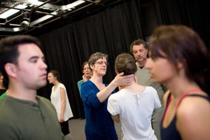 PROFESSOR GAYLE MURPHY TEACHES AT THE VOICE INTENSIVE.